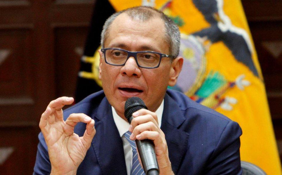 Condenado por caso Odebrecht, ex-vice-presidente do Equador faz greve de fome