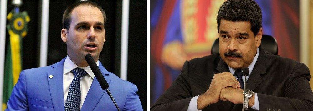Filho de Bolsonaro faz discurso de guerra contra a Venezuela