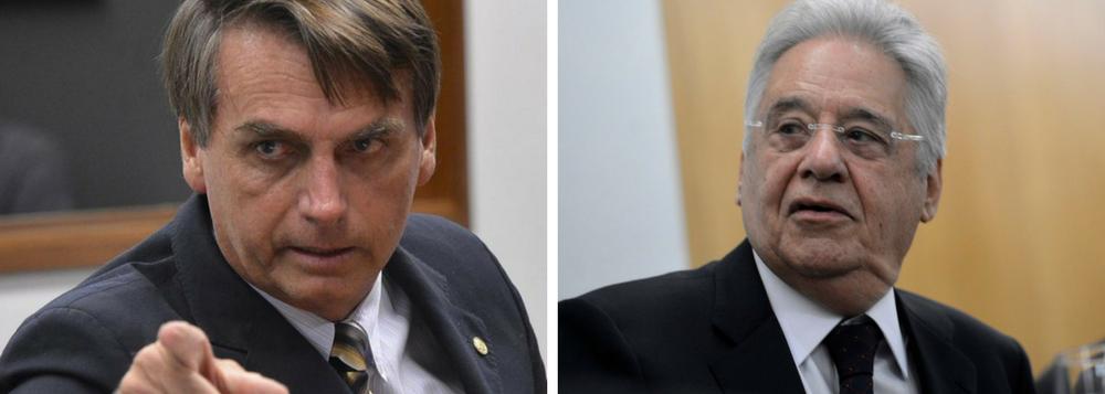 FHC: declaração de Bolsonaro é 'inacreditável e lembra outros tempos'
