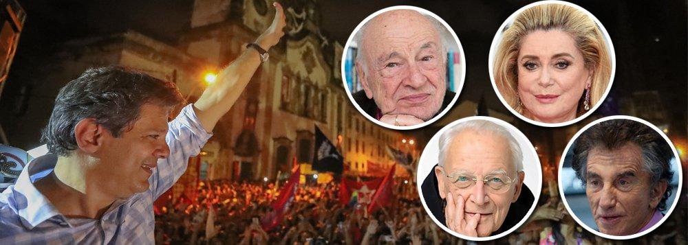 Intelectuais franceses repudiam Bolsonaro e pedem voto em Haddad