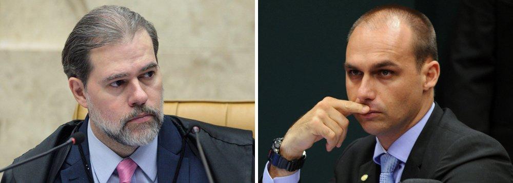 Toffoli condena ataque à democracia feito por Eduardo Bolsonaro