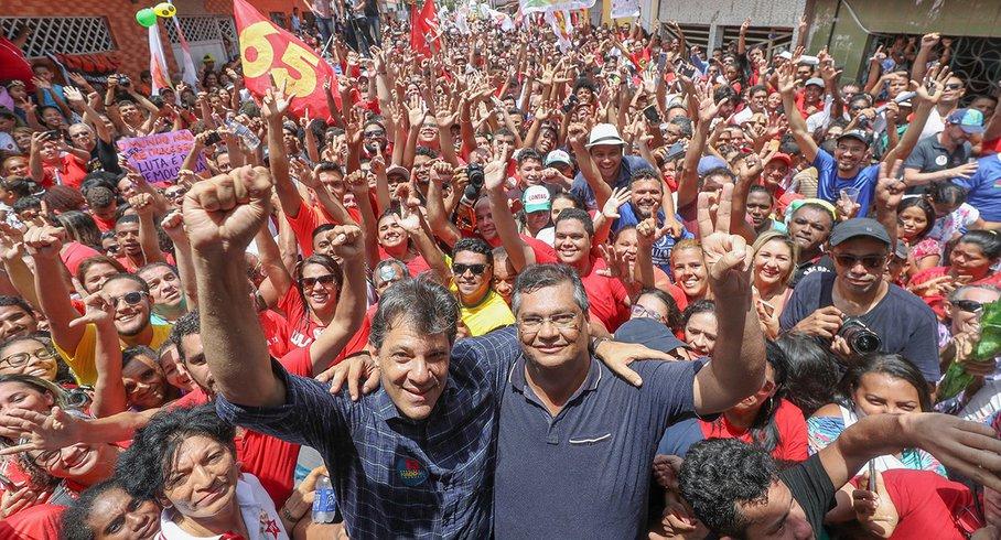 Flávio Dino exalta Haddad e promete surra no fascismo de Bolsonaro