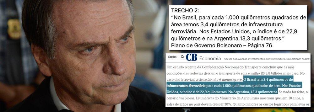 Plano de governo de Bolsonaro é fake