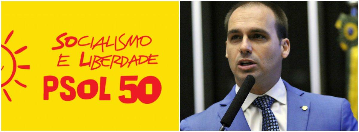 Em nota, PSOL repudia declarações de Eduardo Bolsonaro