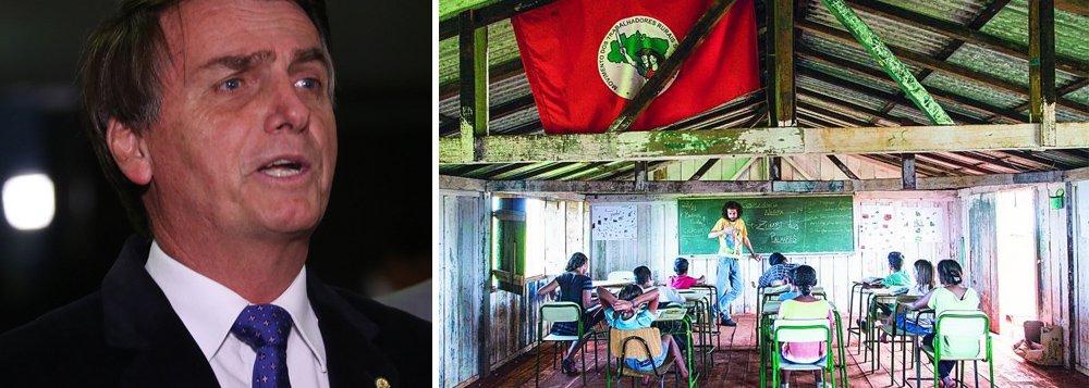 Bolsonaro quer fechar escolas dos sem terra