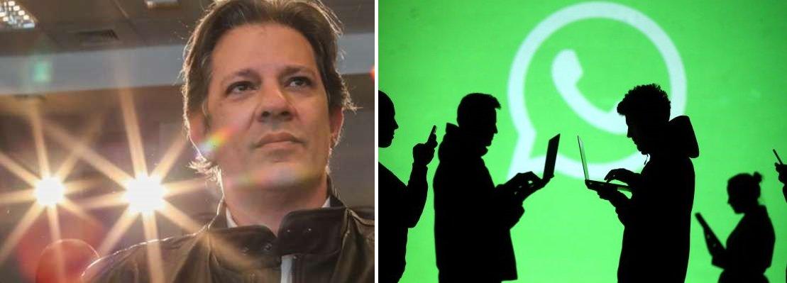 Empresas bancam campanha ilegal contra Fernando Haddad pelo WhatsApp