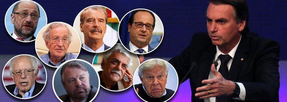 Líderes globais pedem um basta ao fascismo de Bolsonaro