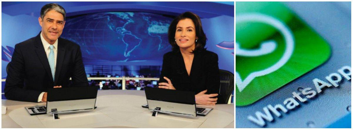 Globo minimiza reportagem da Folha sobre ação anti-PT no WhatsApp