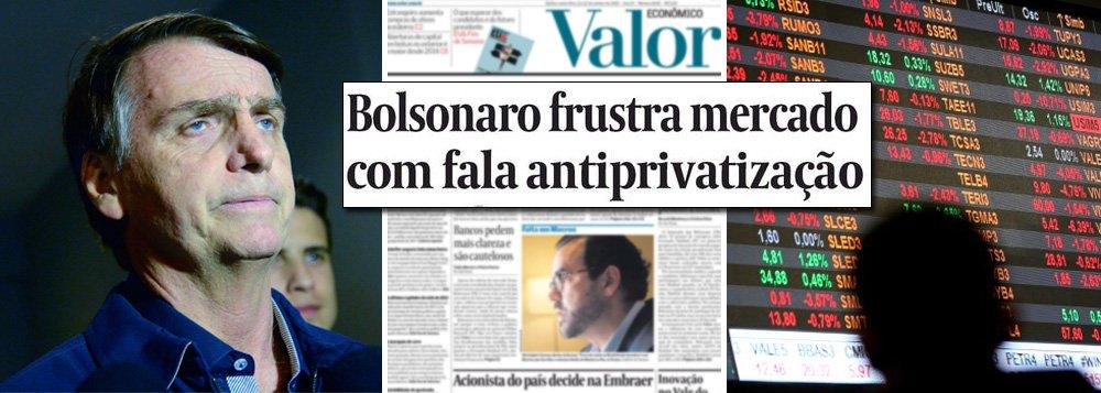 Mercado descobre: Bolsonaro é a grande fake news das eleições
