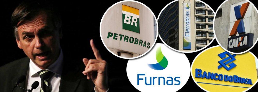 Bolsonaro trai liberais e diz que vai manter BB, Caixa, Furnas, Eletrobrás e miolo da Petrobras