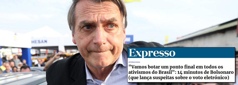 Jornal português destaca pensamento intolerante e ditatorial de Bolsonaro