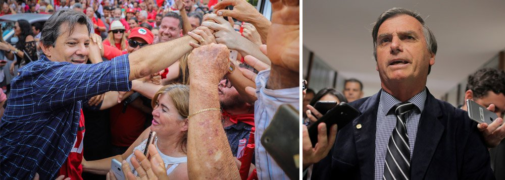 Vox/247: Bolsonaro é o candidato dos mais ricos, Haddad dos mais pobres