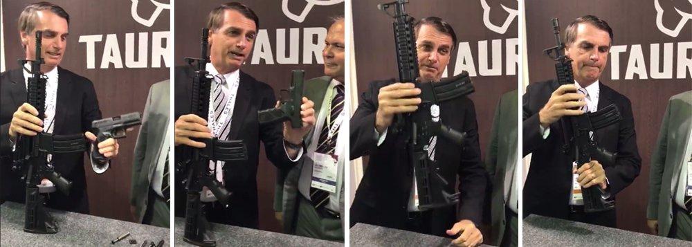 Num vídeo chocante, Bolsonaro é garoto propaganda da Taurus