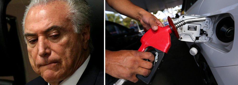 Temer mantém caixa-preta das distribuidoras sobre preços de combustíveis