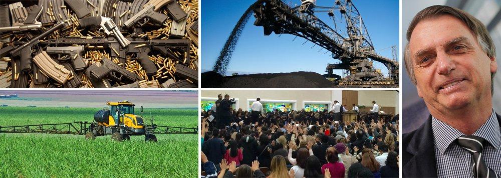 Indústria de armas, agronegócio, mineradoras e igrejas bancam campanha de Bolsonaro