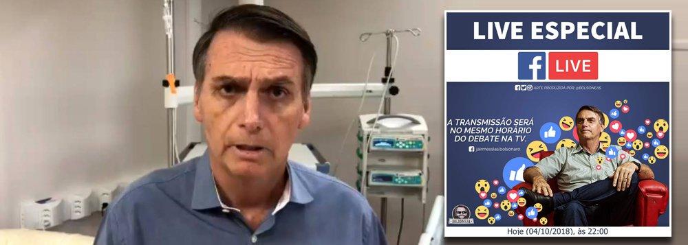 Live mostra que Bolsonaro mentiu para fugir de debate na Globo