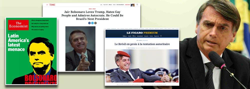 Imprensa de todo o mundo rejeita Bolsonaro