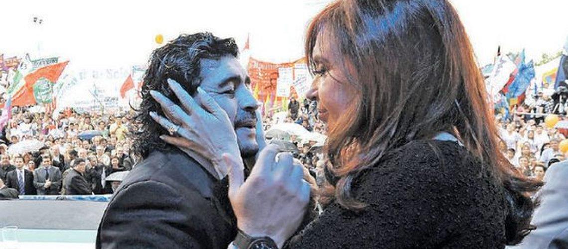 Maradona quer ser vice de Cristina Kirchner nas eleições de 2019