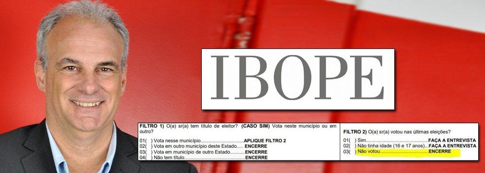 Alberto Almeida: Ibope mudou questionário da pesquisa e alterou resultado final