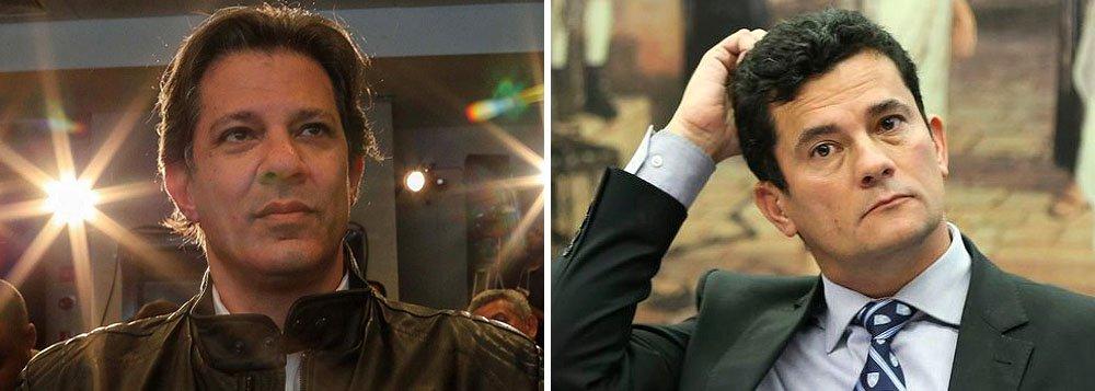PT: desesperado, Moro faz chicana para tentar impedir vitória de Haddad