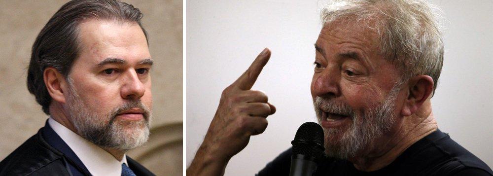 Toffoli adere à censura e decide não pautar entrevista de Lula antes das eleições