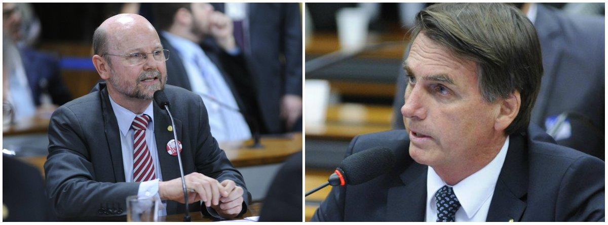 Bohn Gass lembra que Bolsonaro votou a favor do entreguismo