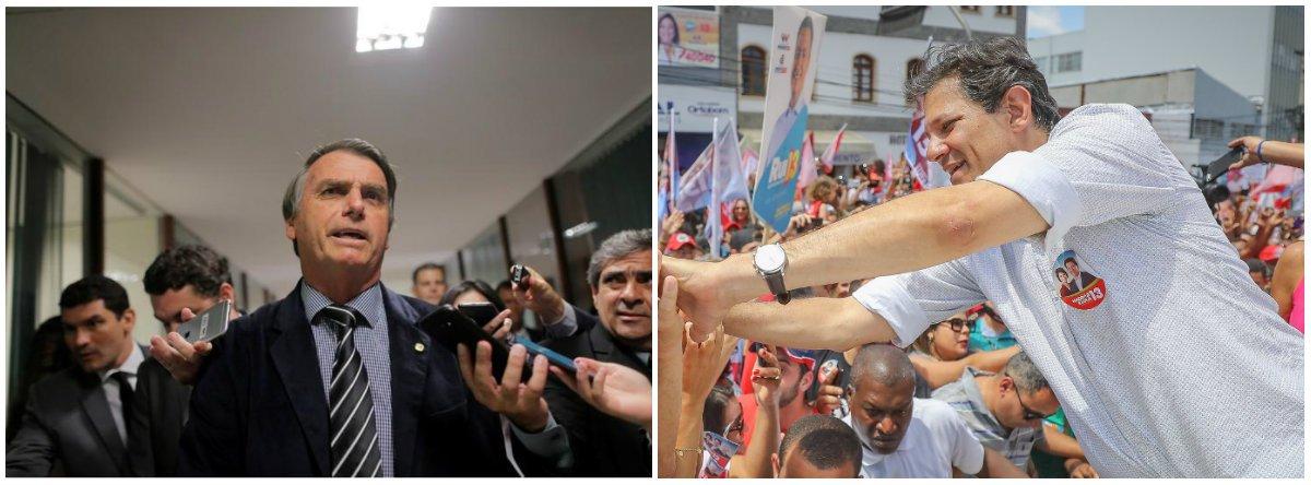 Bolsonaro agora diz que aceitará derrota para Haddad, mas não ligará para cumprimentá-lo