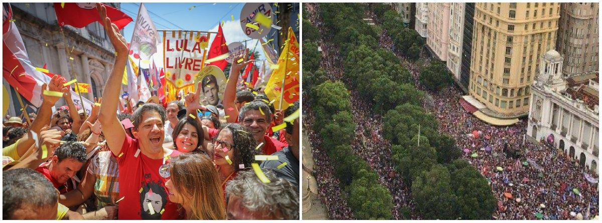 Ou o Brasil racha com um fascista ou se deixa pacificar com Haddad