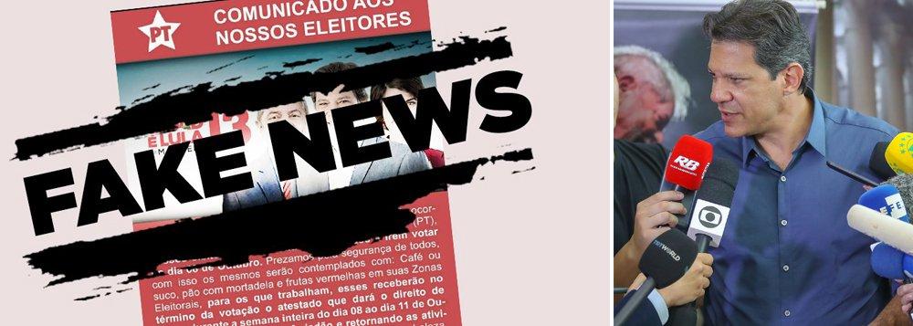 Fake News contra Haddad vão de pesquisas fajutas a mamadeiras eróticas