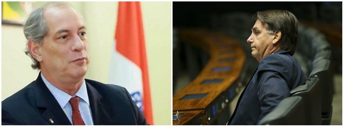 Ciro: Bolsonaro acha que é dono do voto do povo e está querendo mandar na sua vontade