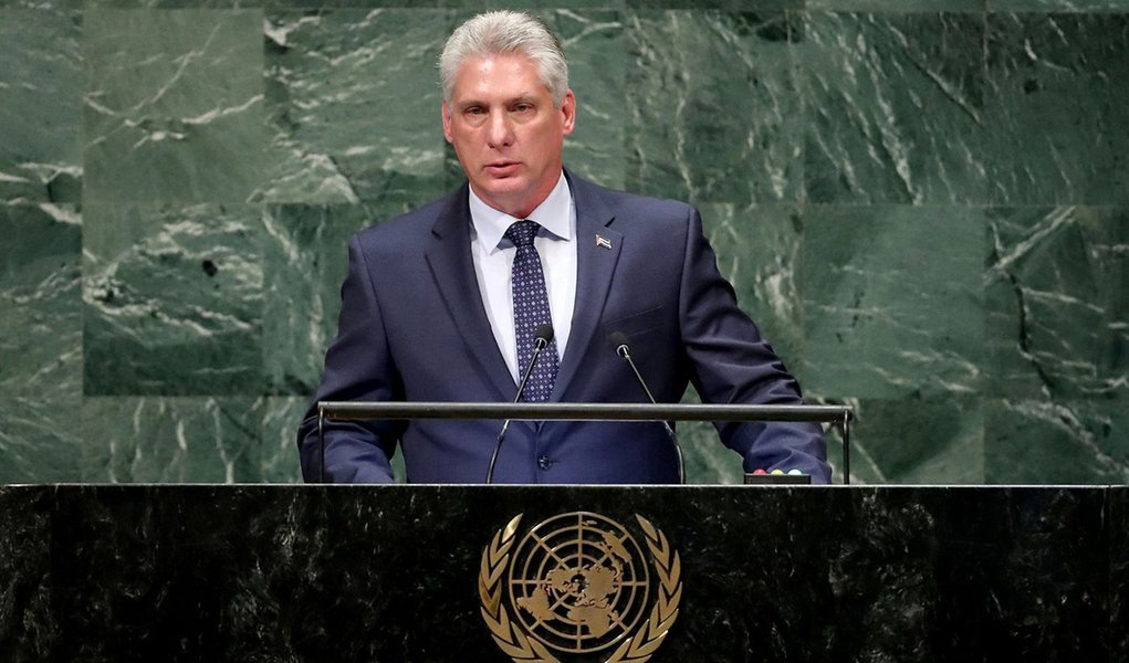 Díaz-Canel, presidente de Cuba, denuncia prisão política de Lula na ONU
