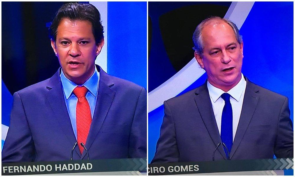 """Ciro diz que não quer governar com o PT e Haddad rebate: """"Me convidou para vice"""""""