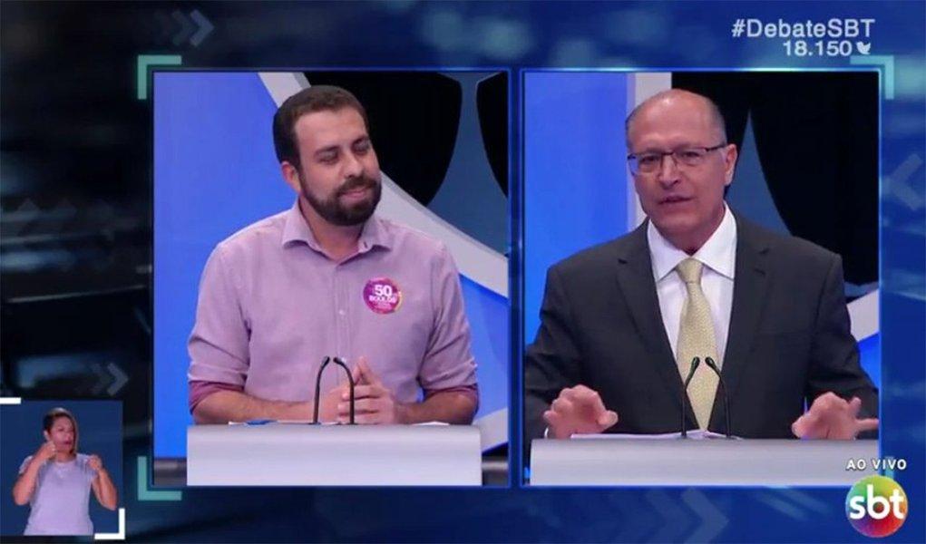 """""""Você é o Sérgio Cabral que não está preso"""", diz Boulos a Alckmin em debate"""