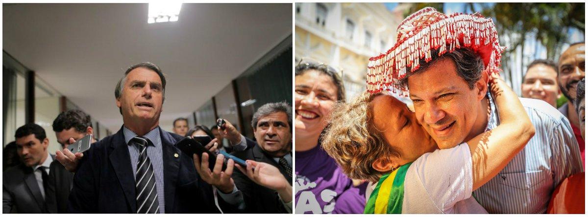 Voto útil anti-Bolsonaro pode eleger Haddad no primeiro turno