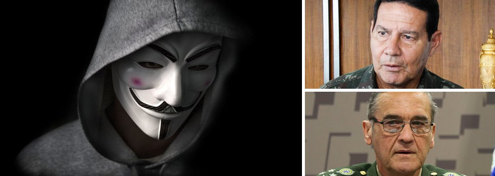 Hackers atacam Ministério da Defesa e divulgam dados de Mourão e Villas Bôas