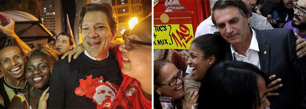 Polarização entre Haddad e Bolsonaro deverá marcar o debate desta quarta