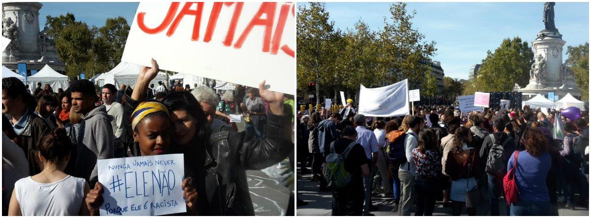 #Elenao mobiliza centenas em Paris contra o fascismo