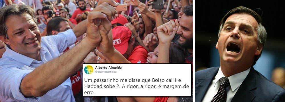 Ibope deve trazer empate entre Haddad e Bolsonaro