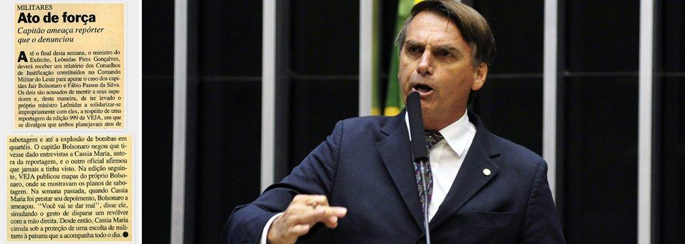Bolsonaro ameaçou repórter que revelou seu plano de explodir bombas no Exército
