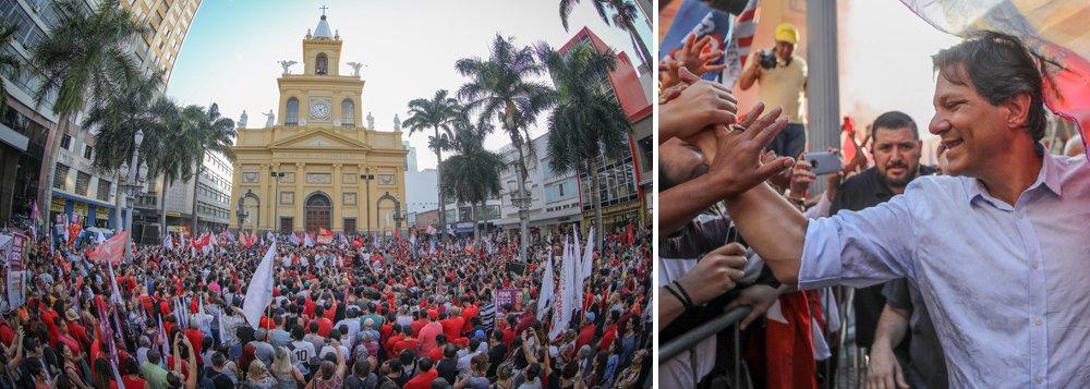 'Com democracia não se brinca', diz Haddad