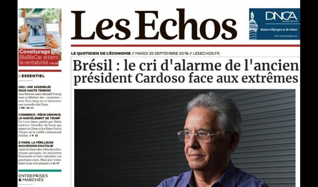 Apelo de FHC por união centrista é ignorado, diz Les Echos