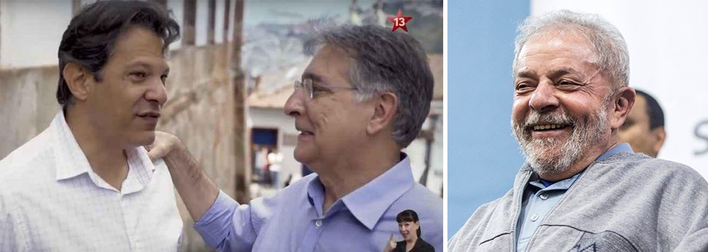 """Em carta, Lula diz que, com Haddad e Pimentel, """"Minas voltará aos bons tempos"""""""