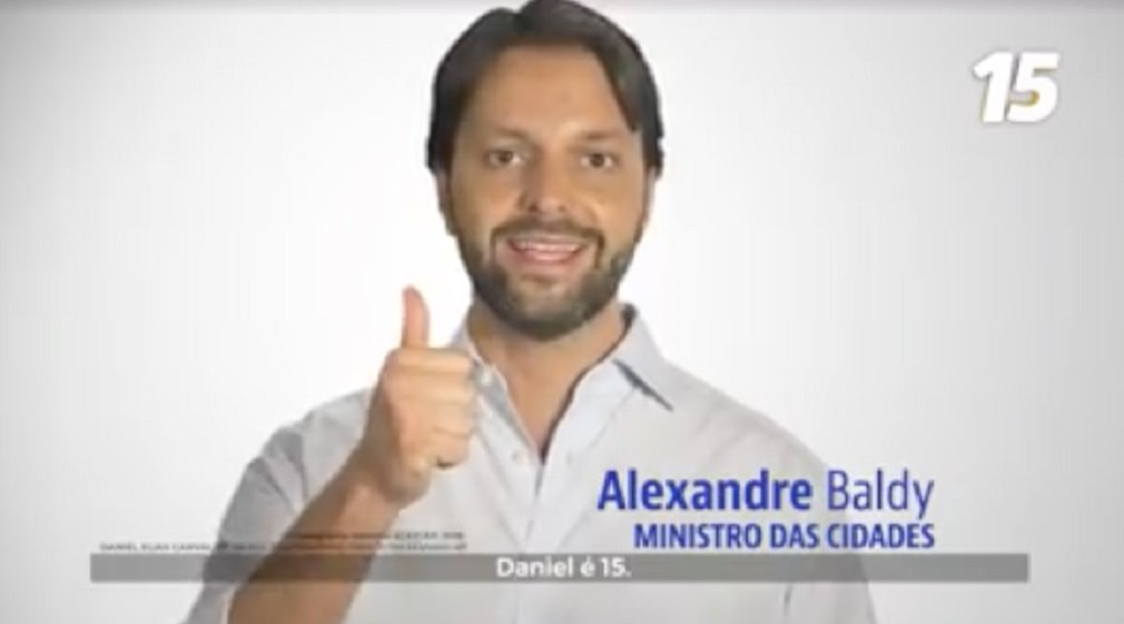 Baldy pede voto para Daniel na TV: pode transformar Goiás