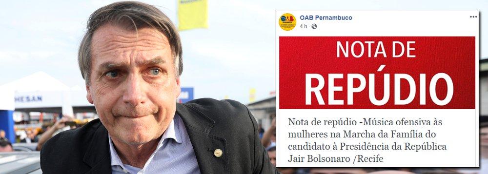 OAB-PE repudia, em nota, funk misógino de eleitores de Bolsonaro