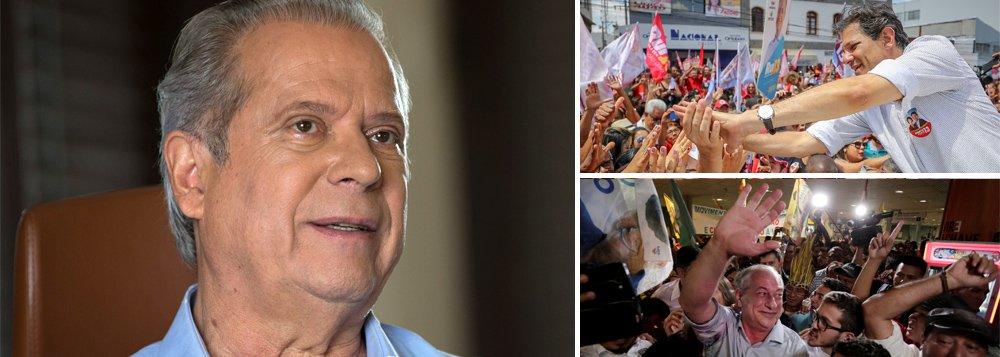 Dirceu: voto útil vai funcionar para Haddad e não para Ciro