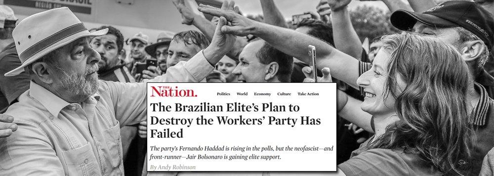 The Nation: plano das elites brasileiras de destruir o PT fracassou