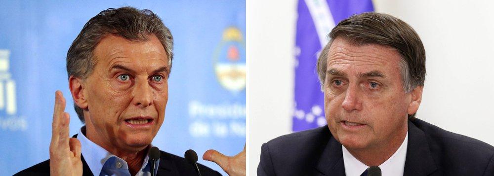Clarín: Bolsonaro e Macri farão declaração conjunta sobre Venezuela