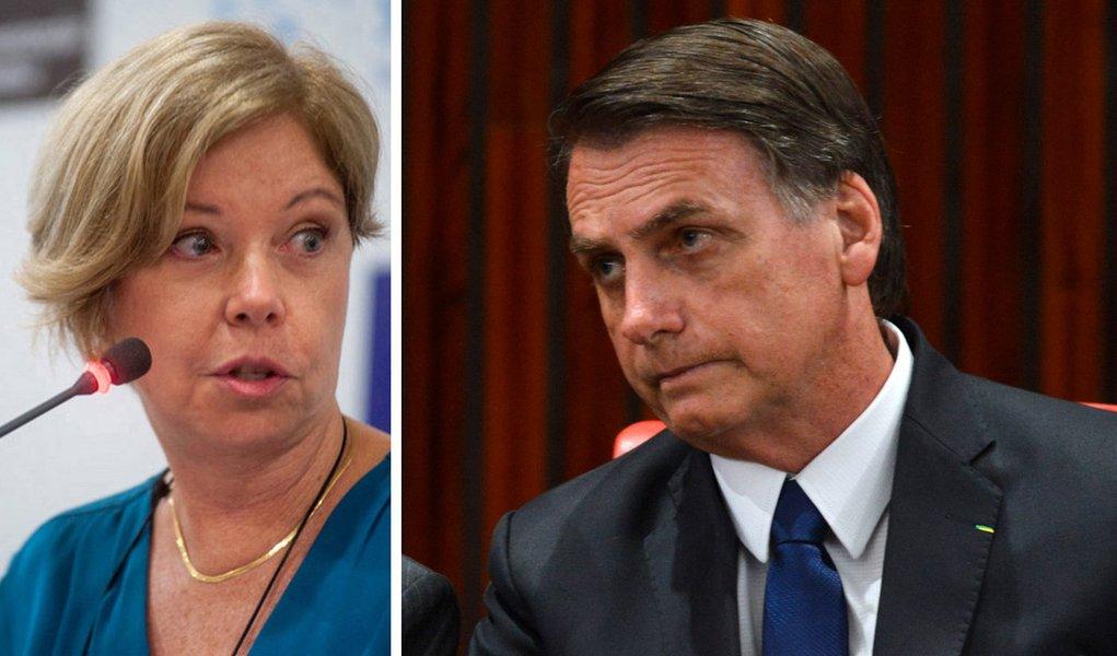 Bolsonaro defende liberdade de expressão em diálogo com Eliane Cantanhede no Twitter