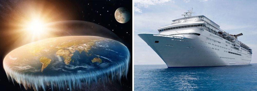 Terraplanistas fretam cruzeiro para ir até a 'beirada da Terra'