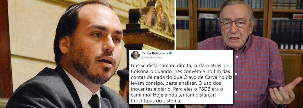 Carlos Bolsonaro ataca novamente no Twitter e cita 'prostitutas do sistema'